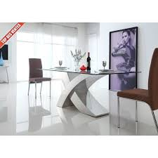 Table à manger en verre design Xena - La table … - Achat / Vente ...