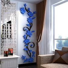 Amazon.com: Fenta Wall Decoration Rose Flower Acrylic 3D Wall Sticker: Home  & Kitchen