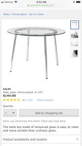 salmi ikea glass table great condition furniture in west hollywood ca offerup