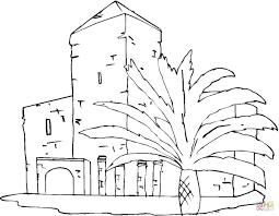 Coloriage Villa Avec Palmiers Coloriages Imprimer Gratuits