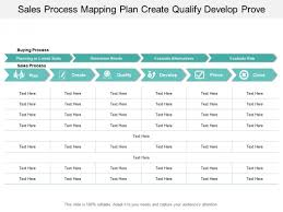 Sales Process Mapping Plan Create Qualify Develop Prove Ppt