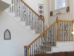 Outdoor Wrought Iron Stair Railings Fine Model Staircase Rare Metal Railing  Photo