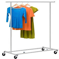 Clothes hanging shelf Ceiling Metal Stainless Steel 2rod Rolling Garment Clothes Rack Hanger Shelf Portable Commercial Cloths Drying Display Hanging Racks Walmartcom Walmart Metal Stainless Steel 2rod Rolling Garment Clothes Rack Hanger