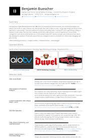Online Marketing Resume Samples Visualcv Resume Samples Database