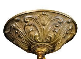 bronze chandelier canopy ornate ceiling