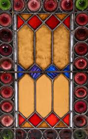 1880 s antique american salvaged chicago interior residential stained glass window with richly colored pontiled