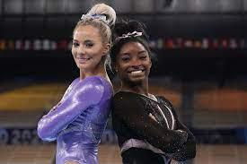 Simone Biles and MyKayla Skinner ...