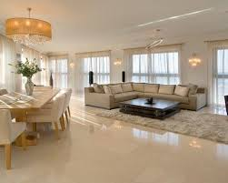white tile flooring living room. Marble Flooring For Modern Living Room With Sectionals Sleeper Sofa Coffee Table And White Shag Rug Wooden Dining Also Padded Chair Tile