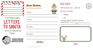 Printable Letter Templates Free Printable Letter To Santa Templates And How To Get A Reply