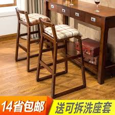 wooden bar chair modern simple high stool portable solid wood ballet barre diy custom portable wood bar