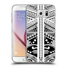 Head Case Silikonový Obal Na Mobil Samsung Galaxy S6 Vzor Maorské Tetování Motivy černá A Bílá Polynézie