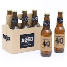 40th birthday gift beer bottle labels