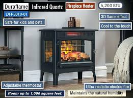 duraflame quartz heater lantern infrared with oscillation powerheat 1500w tower reviews