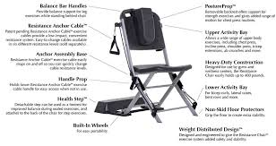 Chair Gym Exercise Chart Vq Actioncare Resistance Chair Exercise System