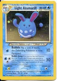 Light Azumarill Holo Details About Pokemon Neo Destiny Holofoil Card 13 105 Light Azumarill