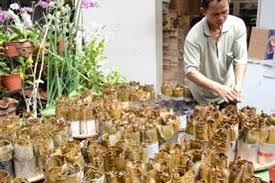 Kue tradisional ini juga banyak di jual di pasar pasar tradisional. Harum Khas Kue Keranjang Berbungkus Daun Pisang