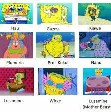 The Alola cast as spongebob