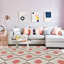 Fashion <b>Nordic Abstract Geometric</b> Element Dark Pink Carpet ...