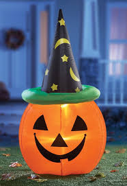 inflatable pumpkin yard decoration outdoor decorating lighted decorations 09