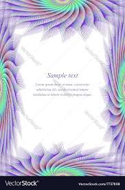 Small Picture Colored page border design template Royalty Free Vector