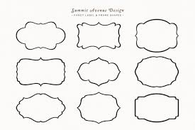 Fancy Frames Label Shapes or Borders by Summit Avenue