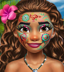this adorable princess lives on an exotic island and she has a lot of makeup secrets to share if you want to learn all about glittery face painting