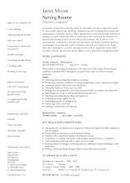 How To Write A Nurse Resume Resume Template Nurse Best Example ...