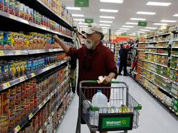 walmart store inside. Exellent Store A Customer Shopping For Food At A Walmart Store APNick Ut With Store Inside P