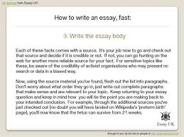 how to write an essay fast essay writing help  6 uk essays