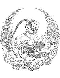 Small Picture Mother Earth Phra Mae Thorani coloring page Free Printable