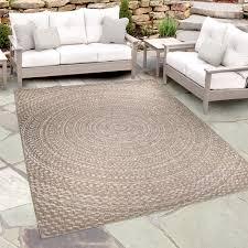 orian indoor outdoor breeze cerulean area rug light blue brown 7