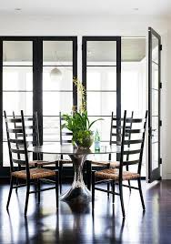tall black ladder back dining chairs with rush seats