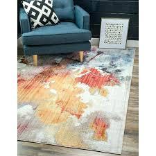 downtown west village orange blue area rug and bartlett las cazuela