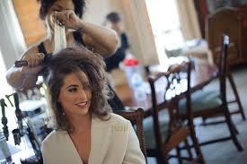 britt getting her hair teased for volume by leslie the hair stylist