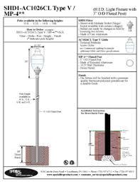 type of lighting fixtures. shd1ac1026cl type v 4 prismatic light fixture on a 3 of lighting fixtures u