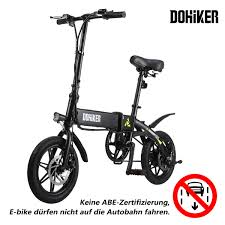 <b>DOHIKER Folding Electric Bicycle</b> Bike 14 Inch E-bike 5 Speed ...