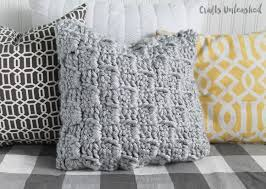 Crochet Pillow Patterns Gorgeous Crochet Pillow Pattern Chunky Stairstep Stitch Tutorial