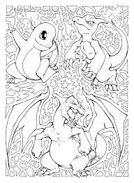 Bulbasaur Kleurplaat Charmander Charmeleon Charizard Line Art By