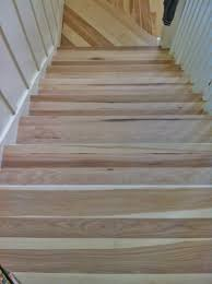 How To Hardwood Stairs Hickory Stair Treads Before They Were Stained Dark Walnut