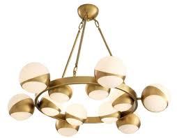 Casa Padrino Luxury Chandelier Antique Brass White ø 96 X H 73 Cm Luxury Furniture