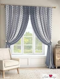 Классические шторы tisil цвет: серо-голубой <b>томдом</b> из ...