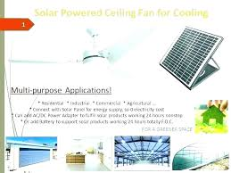 solar powered outdoor ceiling fan power fans powe