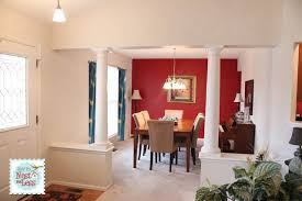 Brilliant Dining Room Paint Ideas With Accent Wall Had Red As An Color In Design