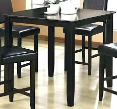 decoration modern counter height bar table euro regarding black dining brown contemporary room design w