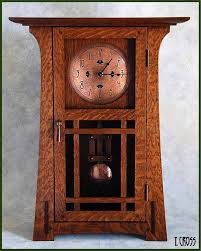 mantel clock by terry cross nice arts and crafts mission style