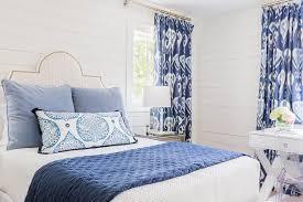 blue bedrooms. Blue Bedroom With White Desk Under Window Bedrooms