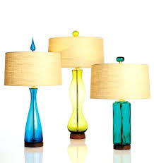 beautiful turquoise glass table lamp or turquoise glass lamp base clear glass table lamp colored glass