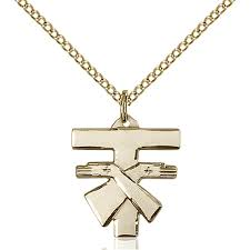 home catholic jewelry medals cross tau franciscan gold filled tau cross pendant