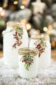 How To Decorate Mason Jars Mesmerizing DIY Snowy Mason Jars