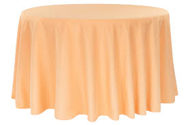 polyester 108 round tablecloth peach